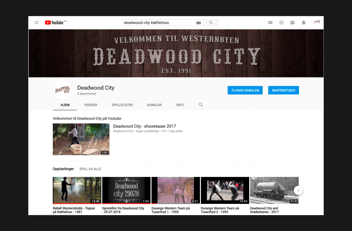 Deadwood City Youtube
